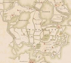 Waterland in 1288, north of Amsterdam. Today, most of these lakes have been drained.