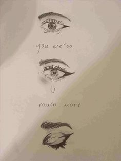 drawings meaning quotes deep drawing sad marker eyes depression meaningful simple pencil sketches cartoon