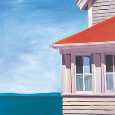 """""""Lightkeeper's House"""" Wall Art Decor by Catherine Breer for GreenBox Art + Culture, sizes 18x18 $99 and 24x24 $139 (LAST DAY! 15% off New Art + FREE shipping over $48)"""
