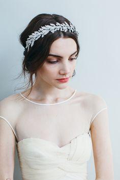 Arielle Crown headpiece // Swarovski crystal // Handmade in New York byJennifer Behr