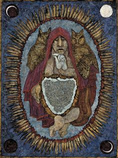 """Hagia Sophia"" - Meinrad Craighead Studio - Meinrad Craighead: Crow Mother and the Dog God, A Retrospective"