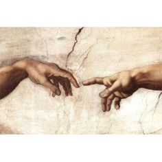 divine spark from Michelangelo's cistine chapel