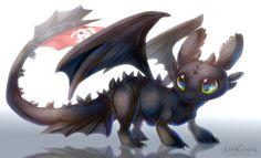 =HTTYD= Night Fury Toothless by LeoKatana on DeviantArt Baby Toothless, Toothless And Stitch, Toothless Dragon, Hiccup And Toothless, Dreamworks Dragons, Disney And Dreamworks, Baymax, Httyd, Liui Aquino
