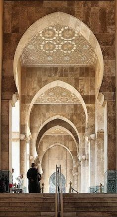 Mosque in Casablanca, Morocco -   beautiful architectual detail