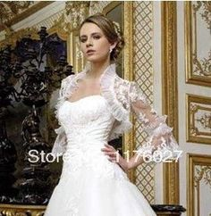 2016 New Cheap Lace Shrug Cape Popular Wrap Long Sleeves Buttons Lace Bridal Bride Wedding Accessories Wedding Jacket WC008