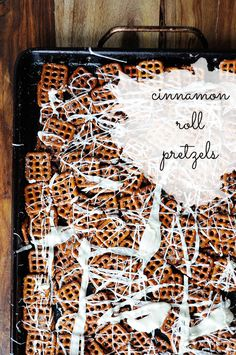Cinnamon Roll Pretzels - Thyme is Honey