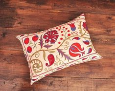 ikat fabric, throw pillow, ikat cushion, suzani, decor by DecorUZ Ikat Pillows, Velvet Pillows, Cushions, Velvet Upholstery Fabric, Ikat Fabric, Printed Silk Fabric, Handmade Pillows, Sell On Etsy, Hand Weaving