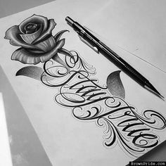 Chicano Lettering daughters name Tattoos Motive, Dope Tattoos, Pretty Tattoos, Beautiful Tattoos, Body Art Tattoos, New Tattoos, Tribal Tattoos, Hand Tattoos, Tattos