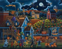 Eric Dowdle Halloween prints and fun online puzzles for kids. :)