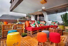 varanda de apê com jeitão de casa O estilo despojado da Morar Mais por Menos Rio de Janeiro - Casa