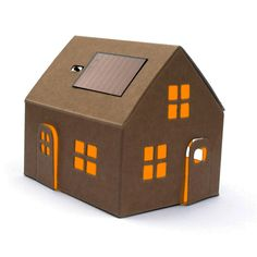 Build your very own night light powered with solar power with this cute casagami house kit. Provides a soft homely light for five hours with from one solar charge.<br><br>Comes ready folded in an envelope so it is the perfect gift. <br><br>Comes with a rechargeable battery (LIR 2032 3, 6V) and a miniature 5V 2mA solar panel. Fully constructed it is 9 cm x 5.5cm x 8cm.<br><br>Made from recycled cardboard.