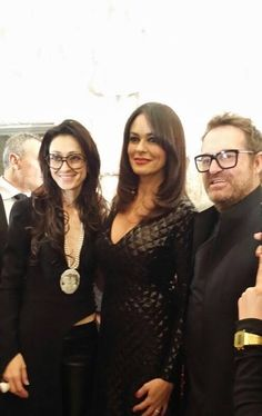 "With Maria Grazia Cucinotta - Testimonial of ""The Look of The Year 2014"""