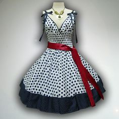 Charming White Polka Dot 50s Pin up Rockabilly Swing Dress Mini Swing Skirt size M-L on Etsy, $37.99