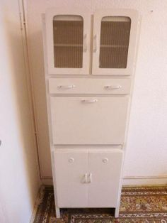 Vintage 1950s KITCHEN CABINET - Freestanding - Kitchenette - Original + VGC
