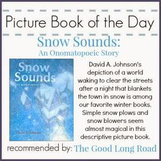 Picture Book of the Day: Snow Sounds + Sensory Play