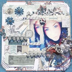 """Snow Day""  ~~Scraps of Darkness~~  Sketch Challenge Bo Bunny - Woodland Winter Collection http://lostcoastscrapper.blogspot.nl/2013/12/snow-day-scraps-of-darkness.html"