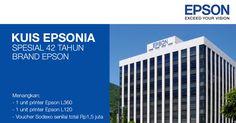 Ikuti #KuisEpsonia spesial 42 tahun brand Epson berhadiah printer & voucher belanja. #kuis