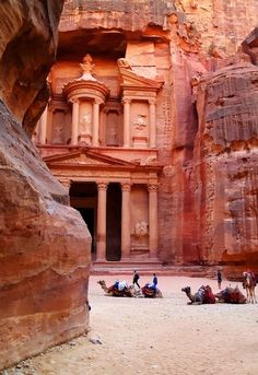 Petra, Jordan - Looks like the gorge from Indiana Jones: the Last Crusade.