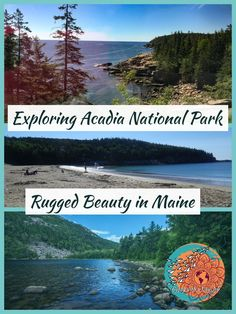 Exploring Acadia National Park, Rugged Beauty in Maine photo collage. Best Places To Vacation, Places To See, Vacation Ideas, Acadia National Park, Us National Parks, New Travel, Travel Usa, Travel Wall, Travel Tips