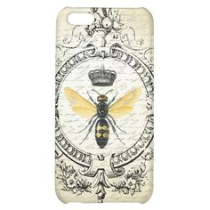 Modern vintage french queen bee Cell Phone Case