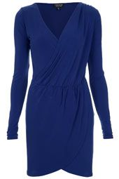 Cobalt Drape Dress