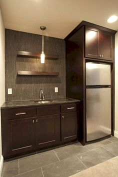 Basement Bar Ideas - If you want to decorate your basement, then you must know that there are some cool basement ideas available. By giving special attention to your basement, you can transform your basement into a comfortable room. Best Flooring For Basement, Cool Basement Ideas, Basement Bar Designs, Basement Inspiration, Modern Basement, Basement Walls, Basement Bedrooms, Basement Bathroom, Rustic Basement