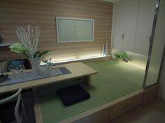 インテリアコーディネート 和室|フローリング部分から和室までテーブルをのばしてダイナミックに空間を使いました。お友達を呼びたくなります。