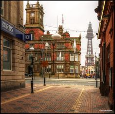 Blackpool tower Blackpool England, Bradford, Old Photos, Big Ben, Seaside, Past, Tower, Building, Places