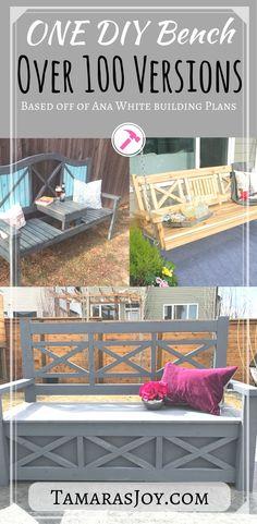 One DIY Bench done over 100 different ways! - Tamara's Joy