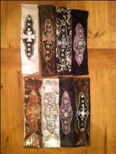 Crystallized and Studded Cross Headbands by Safari Girl.