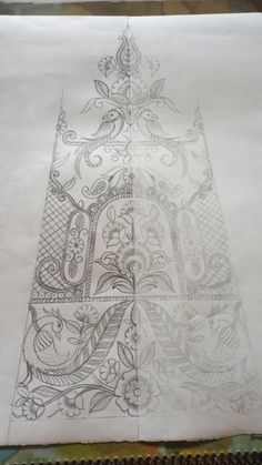 Faisal Husain Designer's media statistics and analytics Zardozi Embroidery, Hand Work Embroidery, Embroidery Motifs, Machine Embroidery Patterns, Embroidery Fashion, Hand Embroidery Designs, Diy Embroidery, Dress Design Sketches, Pencil Design