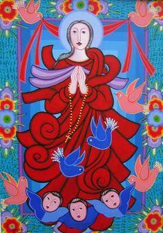 Adelson do Prado. Nossa Senhora da Conceição (2009). Acrílica sobre Tela. 70x50 cm.