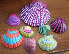Turn boring shells into something pretty with sharpies ...