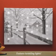 Fiber Optic Winter Wonderland Canvas Wall Art Indoor