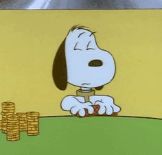 my gif gif vintage cartoon television animation poker face Charlie Brown snoopy…
