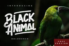 Black Animal is handmade brush style font . Very cool for logos, name tag, handwritten quotes, product packaging, merchandise, social media & greeting cards. And very easy to make design t-shirts and other products. Very save time in making the design of a product. It contains a full set of lowe