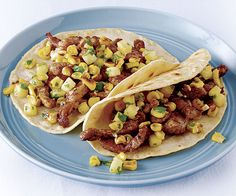 PORK FAJITAS WITH PAN-ROASTED CORN AND PINEAPPLE SALSA http://www.finecooking.com/recipes/pork-fajitas-pan-roasted-corn-pineapple-salsa.aspx?utm_source=social&utm_medium=fb_post&utm_term=no-offer&utm_content=fc-recipe&utm_campaign=FC_social