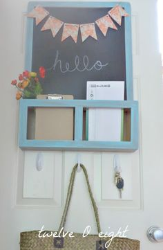 I have what looks to be the same chalkboard from Ikea. A little paint and...it could match our granny-smith-green bedroom!