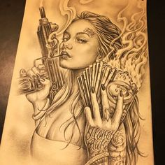 Chicano tattoo art Chicano Tattoos Sleeve, Chicano Style Tattoo, Body Art Tattoos, Arte Cholo, Cholo Art, Tattoo Design Drawings, Tattoo Sketches, Tattoo Designs, Chicano Drawings