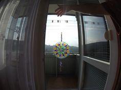 lapač slnka - mandala - farby na sklo