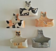 Business card Holder hand made Cat Siamese Flame point by firecat