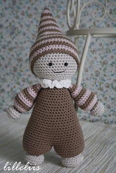 Cuddly-baby - amigurumi doll.