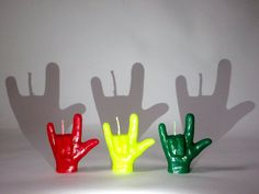 Novelty Love (sign language) Candles