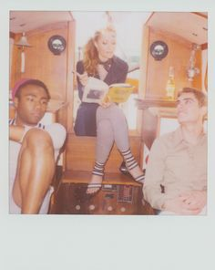 Loving this! Donald Glover (Childish Gambino), Leslie Mann, and Dave Franco. ---I wanna know the context of this photo