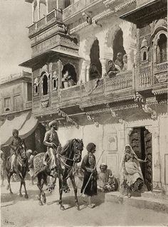 vintageindia: Promenade of the Rajah a photogravure of a painting by Edwin Lord Weeks India Painting, History Of India, Vintage India, Famous Artists, Indian Art, Historical Photos, Old Photos, The Incredibles, Antiques