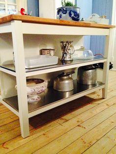 ikea, stenstorp kjøkkenøy Ikea Kitchen, Kitchen Cart, Kitchen Island, Kitchens, Decorating, Home Decor, Mesas, Storage, Cooking