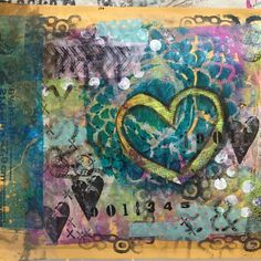 Back of an altered envelope. Mixed media style. By Christy Houser