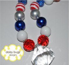 Old Glory Children's Chunky Bubblegum Bead Necklace. $12.50, via Etsy.