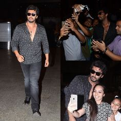 Arjun Kapoor is tackling the promotional events all alone while his Ki & Ka co-star Kareena Kapoor Khan is in Dubai to up the glam quotient at Times Of India Film Awards. Arjun was clicked at the airport returning from Chandigarh post completing a promotional run. Though appearing tired Arjun didn't disappoint his fans and clicked pictures with them. Aww! by #Filmfare. Shared by #BollywoodScope