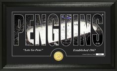 MyTeamPrints.com - Pittsburgh Penguins Word Silhouette Coin Photo Mint, $69.99 (https://www.myteamprints.com/pittsburgh-penguins-word-silhouette-coin-photo-mint/)